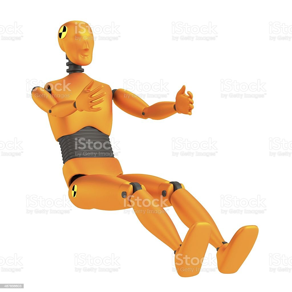 car test dummy stock photo
