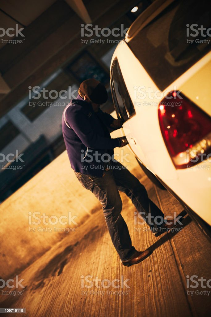 Car Theft royalty-free stock photo