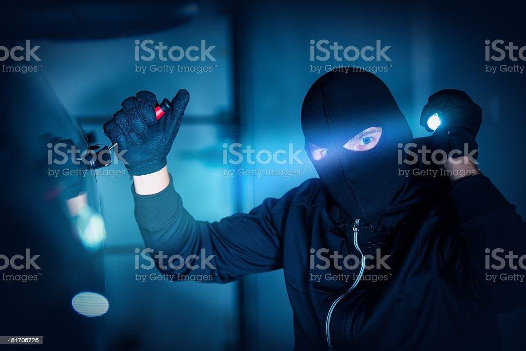 Car Thief Car Robbery stock photo