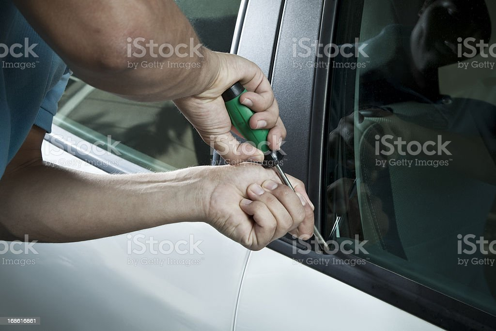 Car thief royalty-free stock photo
