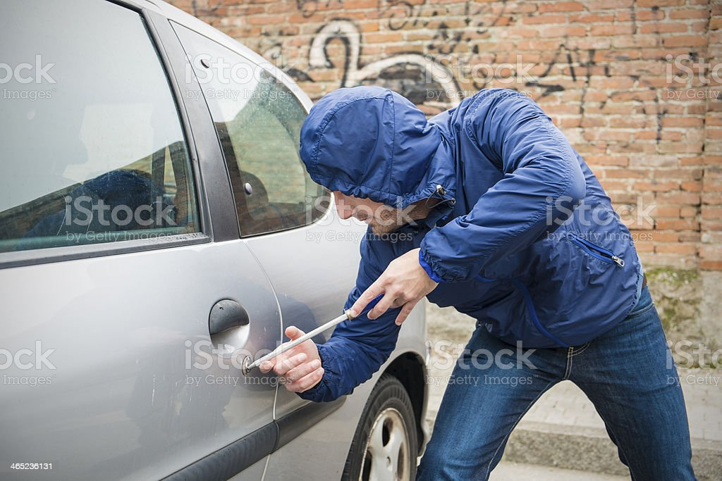 Car Thief stock photo