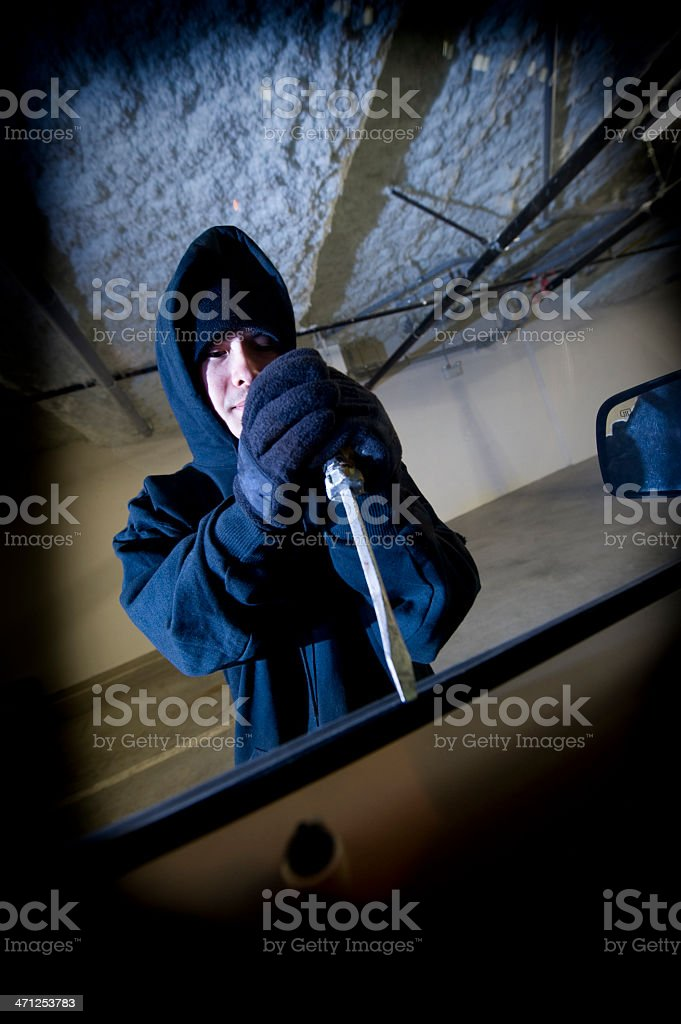 Car thief royalty-free stock photo
