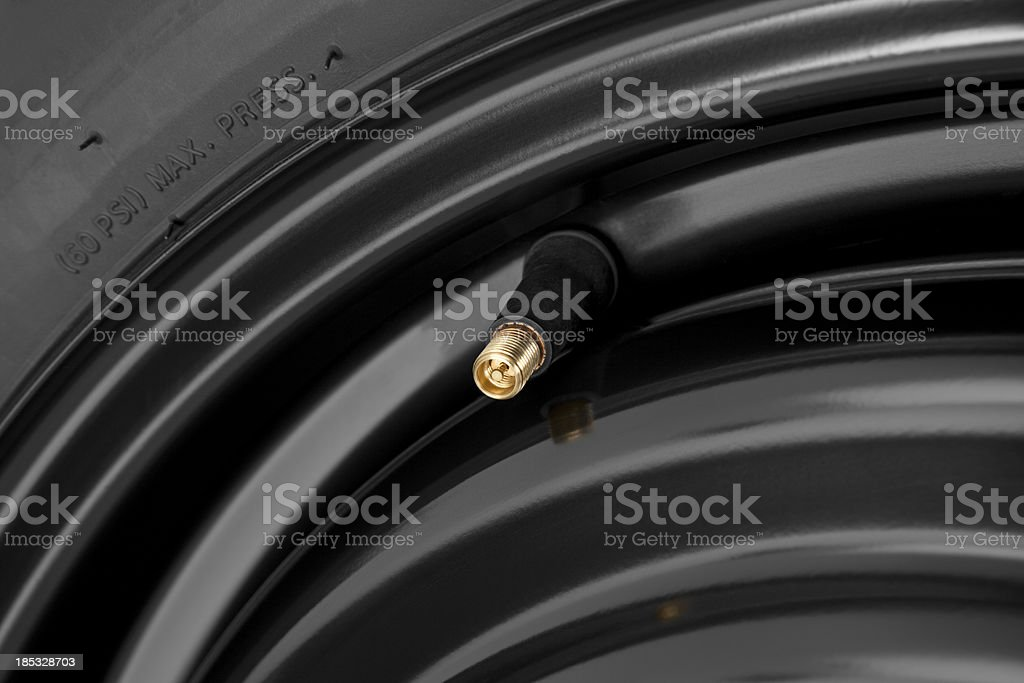 Car Tire Air Valve stock photo