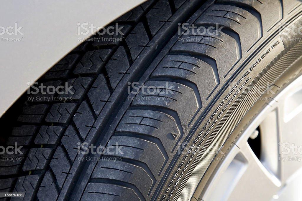 car tire and wheel on high efficiency hybrid stock photo