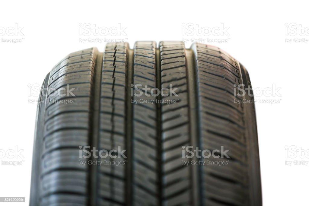 Car Tire on White stock photo