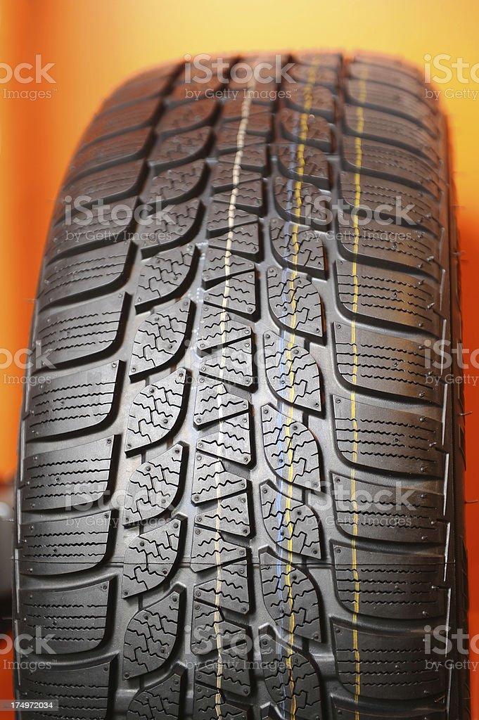 Car tire stock photo