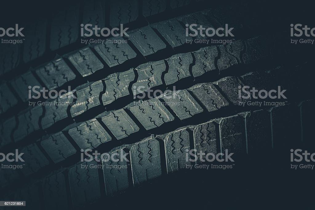 Car Tire Tread Closeup stock photo
