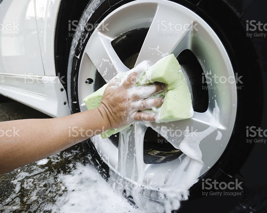 Car Tire Wash royalty-free stock photo