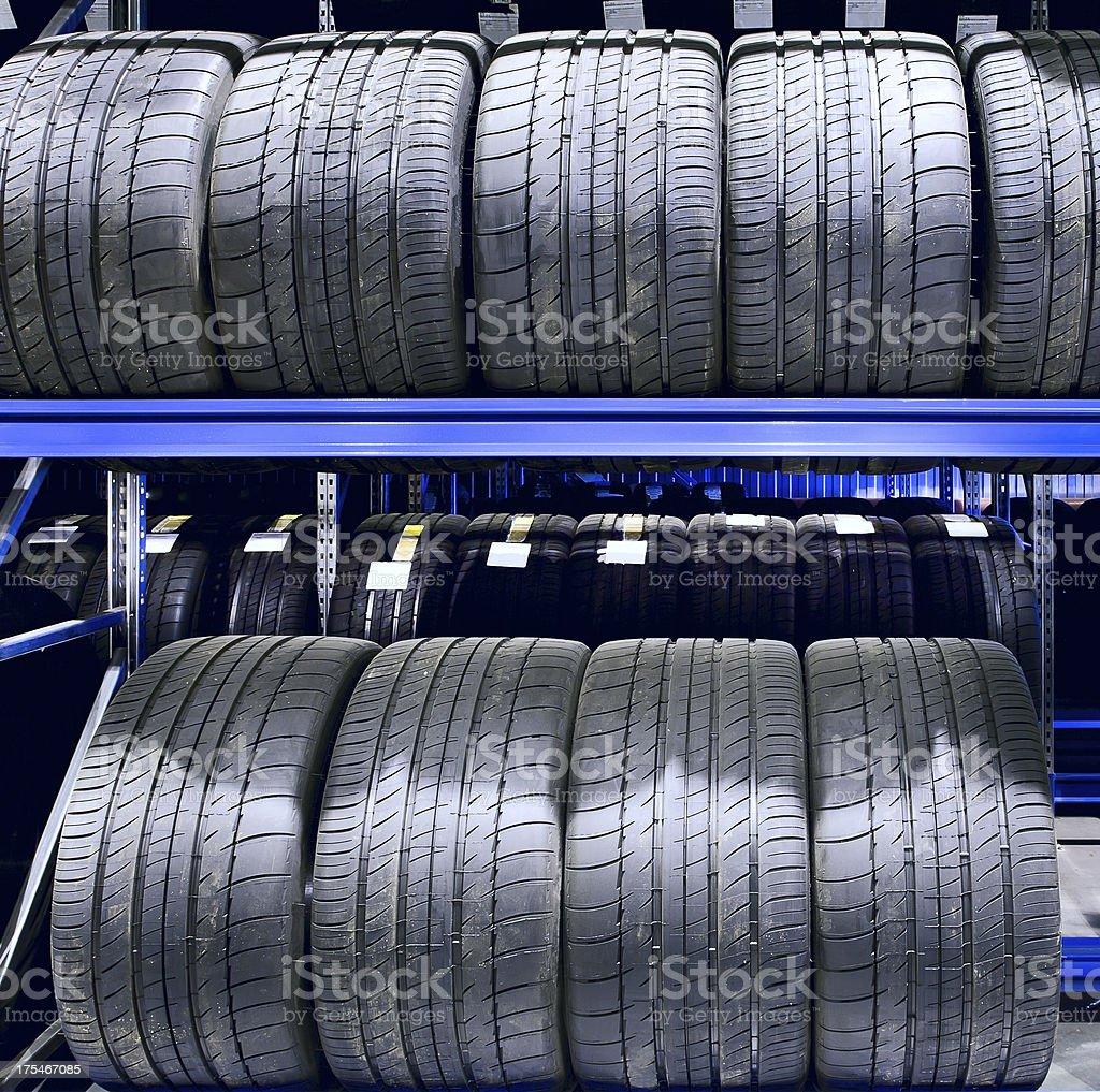 Car tires closeup royalty-free stock photo