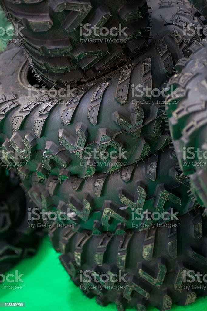 Car tires stock photo