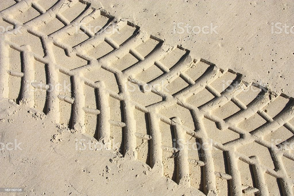 Car tracks royalty-free stock photo