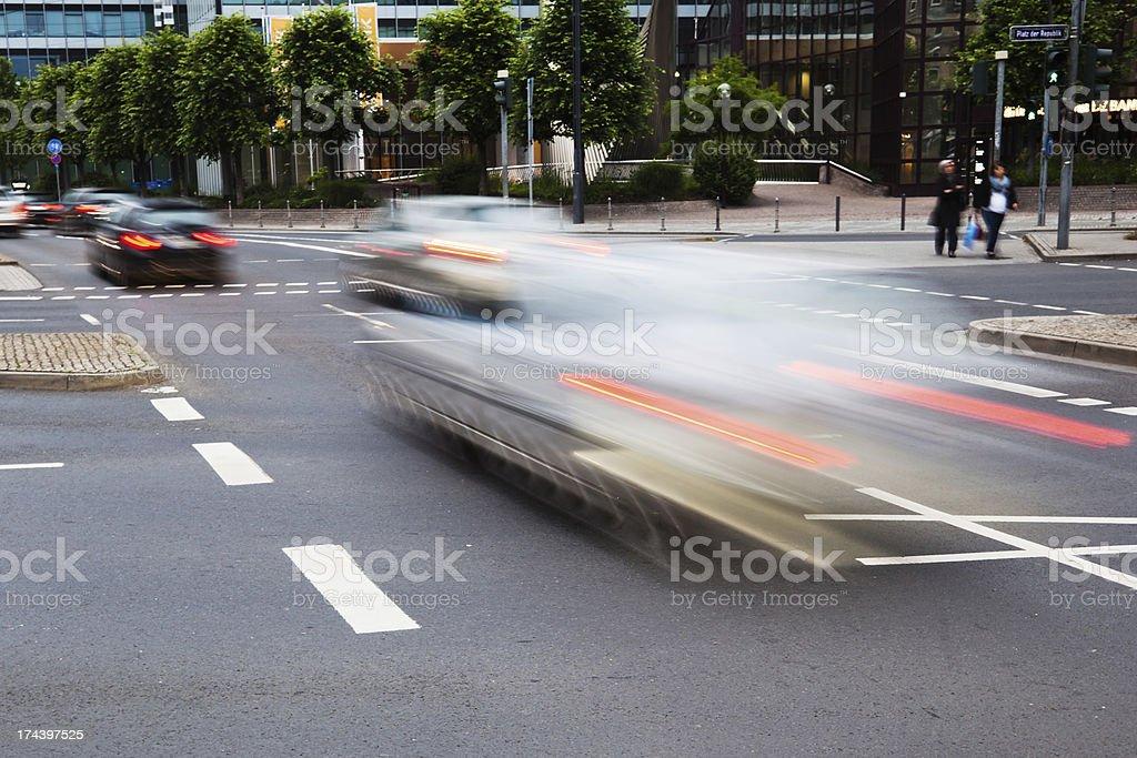 car traffic in motion blur royalty-free stock photo