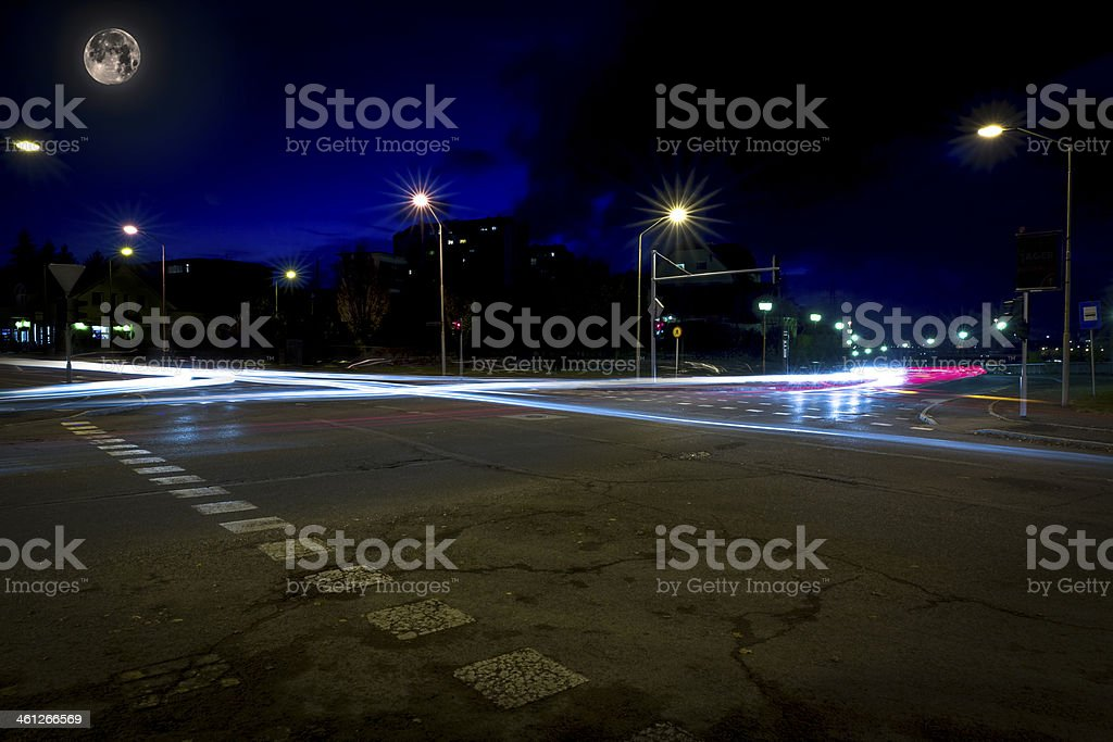 Car trails royalty-free stock photo
