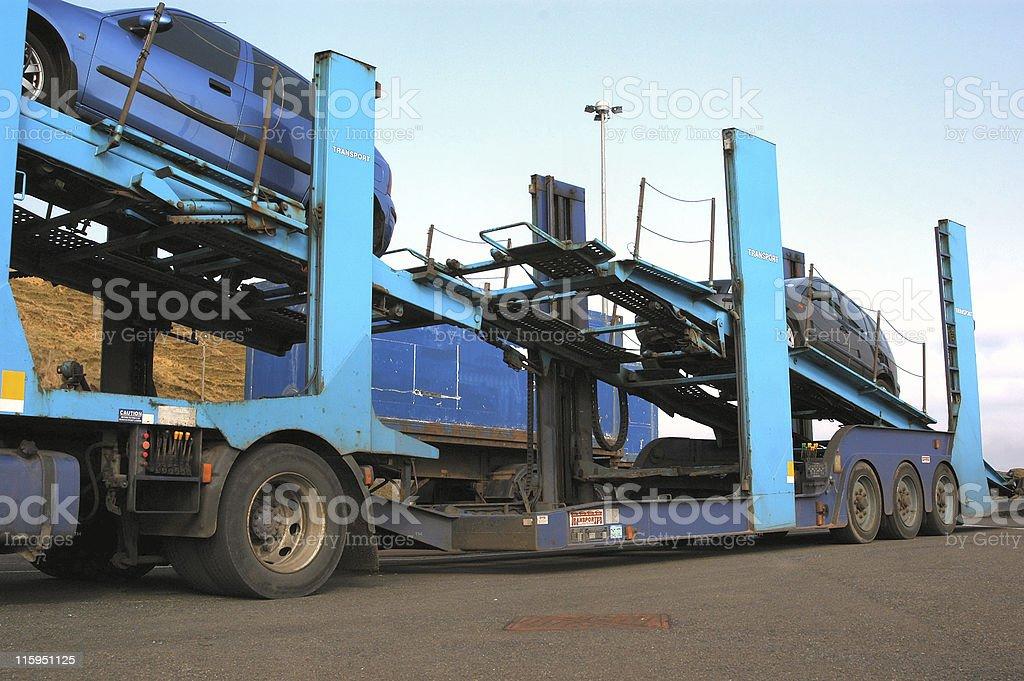 Car Transporter. stock photo