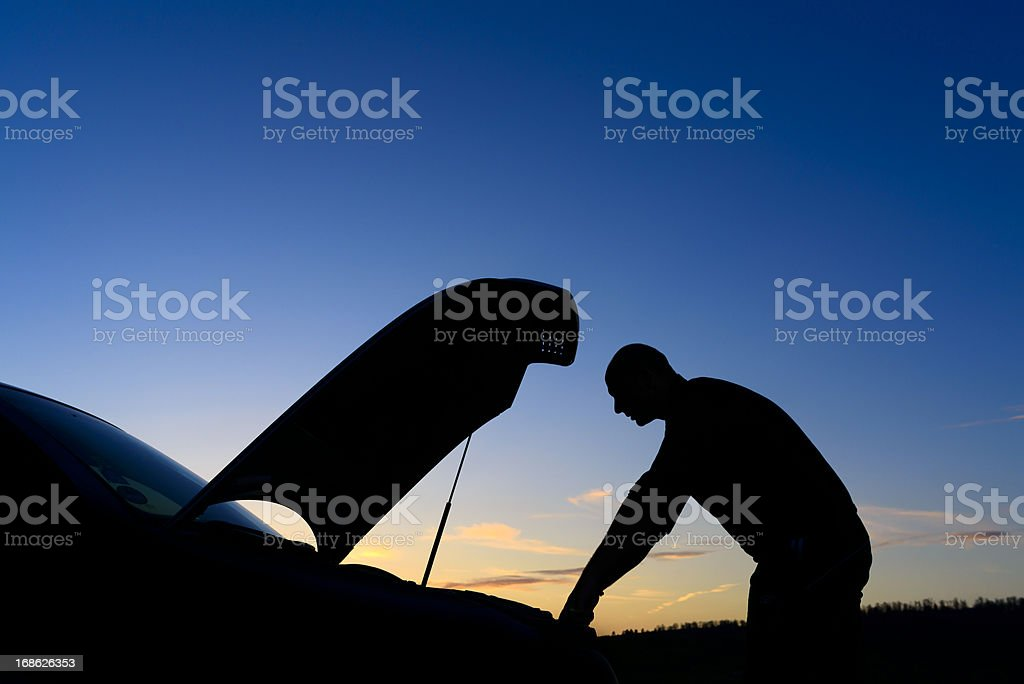 car trouble royalty-free stock photo