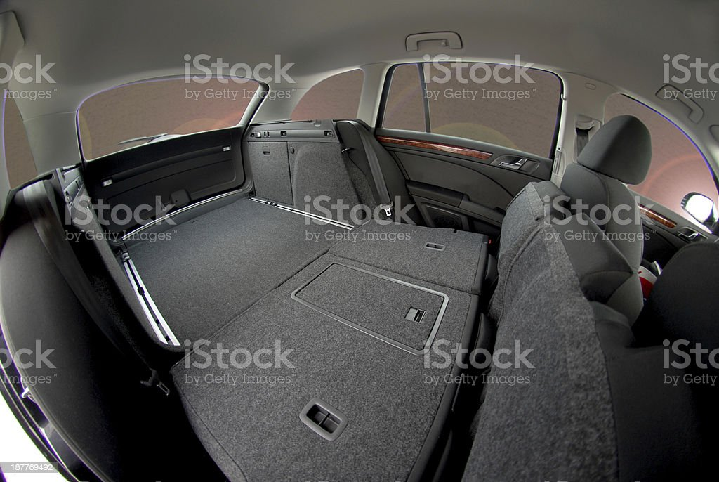 car trunk inside royalty-free stock photo