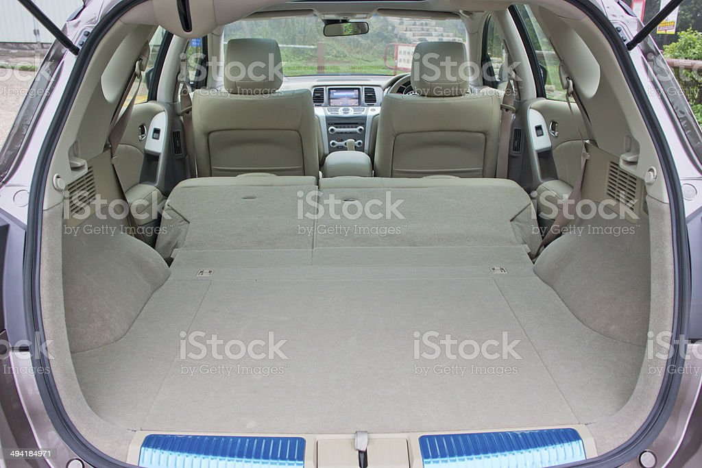 car trunk inside stock photo