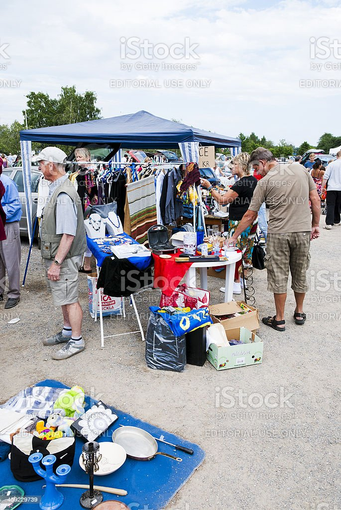 Car Trunk Sale royalty-free stock photo
