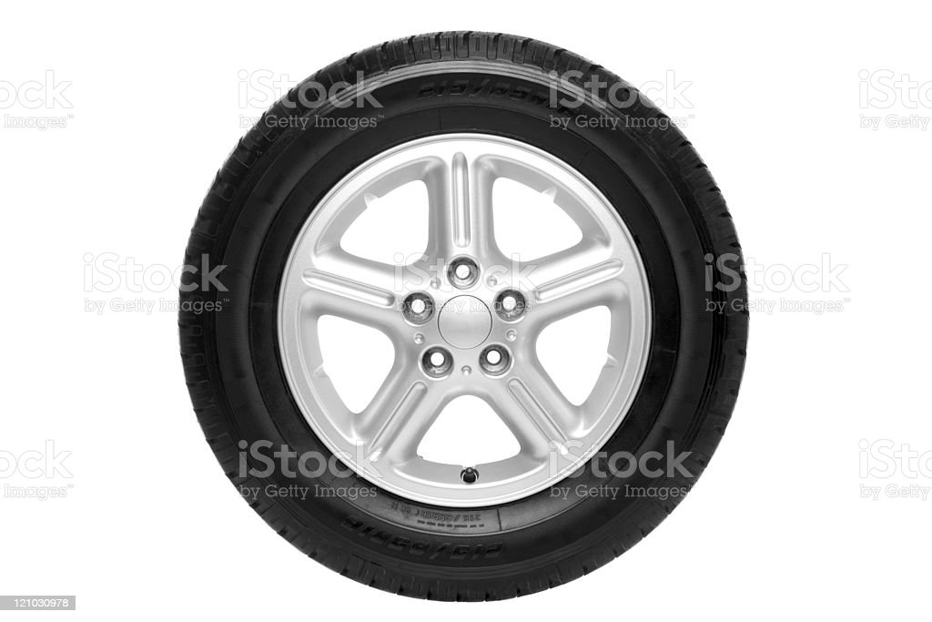 Car tyre isolated on white royalty-free stock photo
