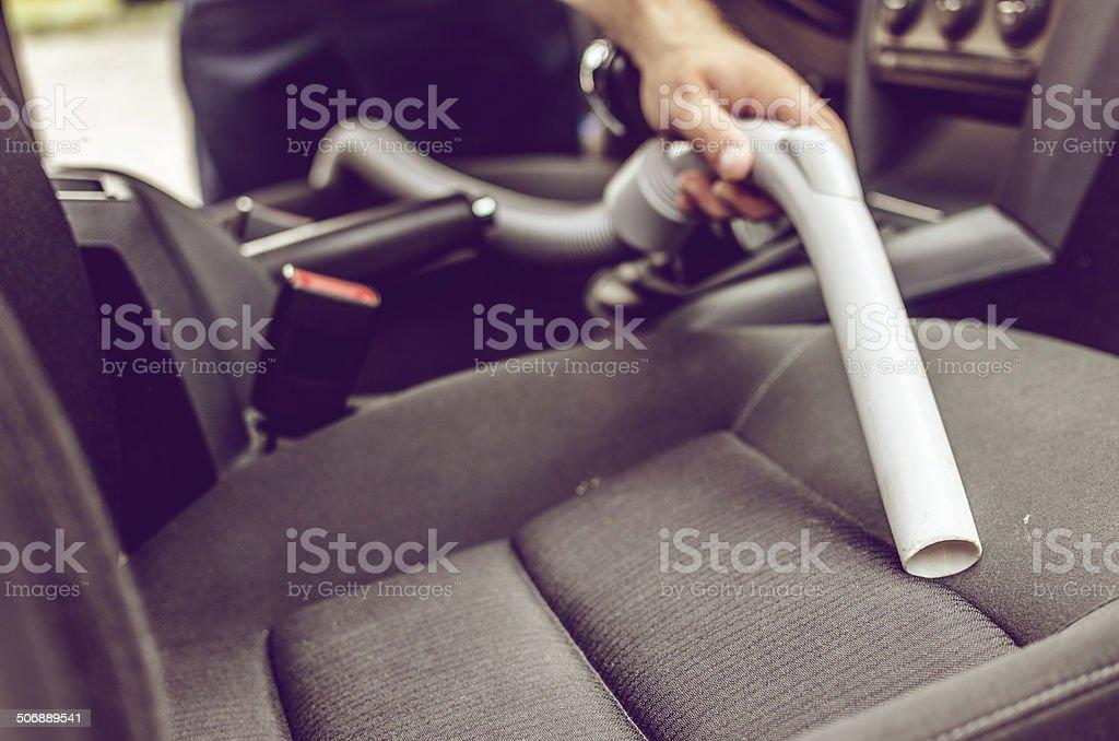 Car vacuuming stock photo