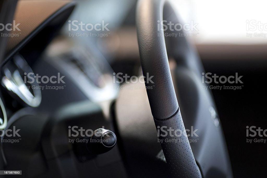 Car / Van steering wheel royalty-free stock photo
