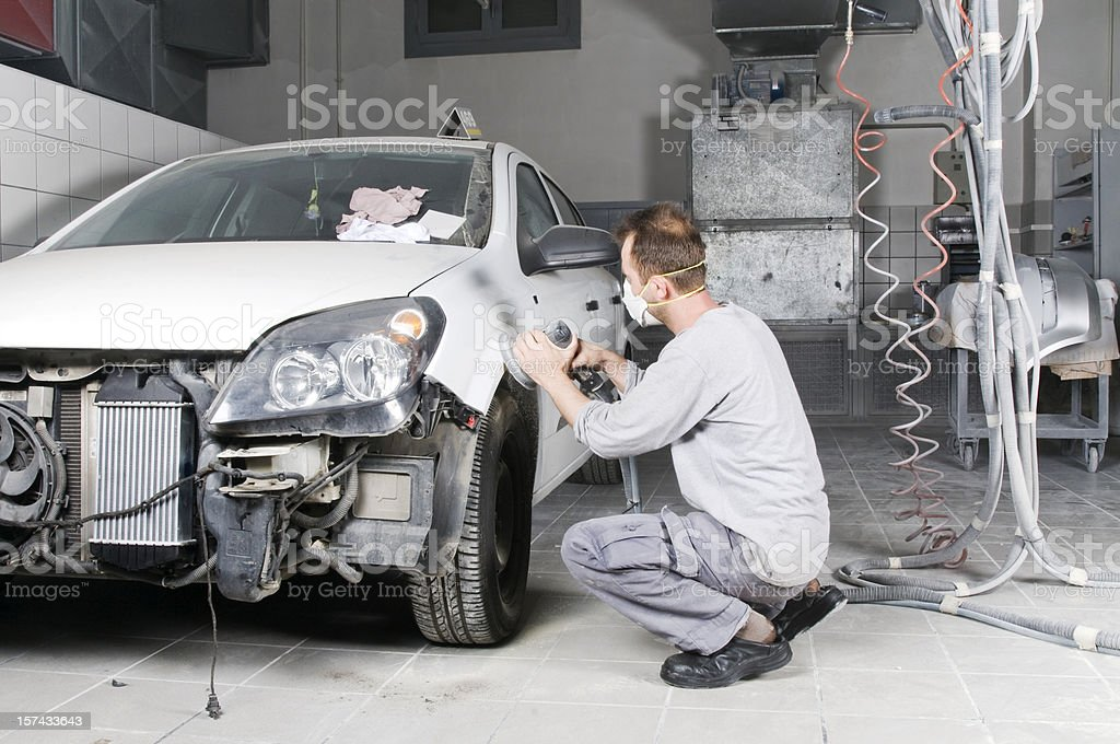 Car varnish stock photo
