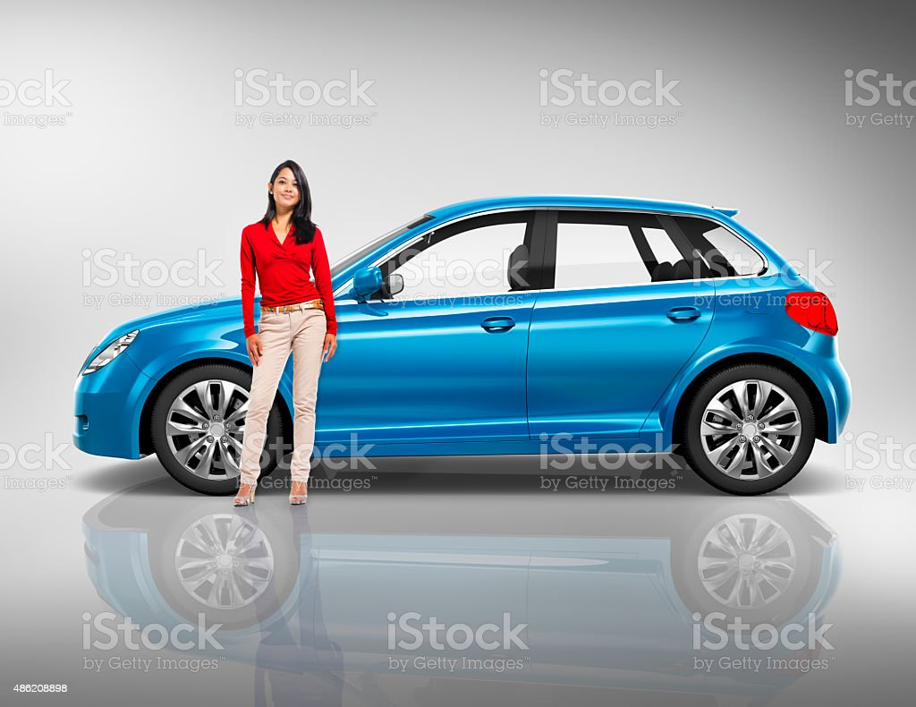 Car Vehicle Hatchback Transportation 3D Illustration Concept stock photo