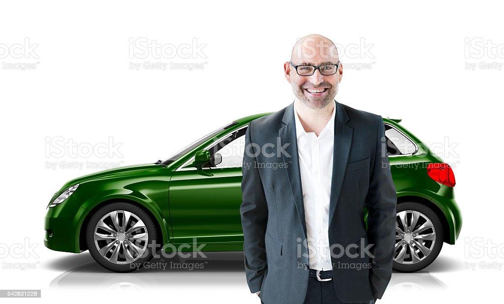 Car Vehicle Hatchback Transportation 3D Illustration Concept stock photo
