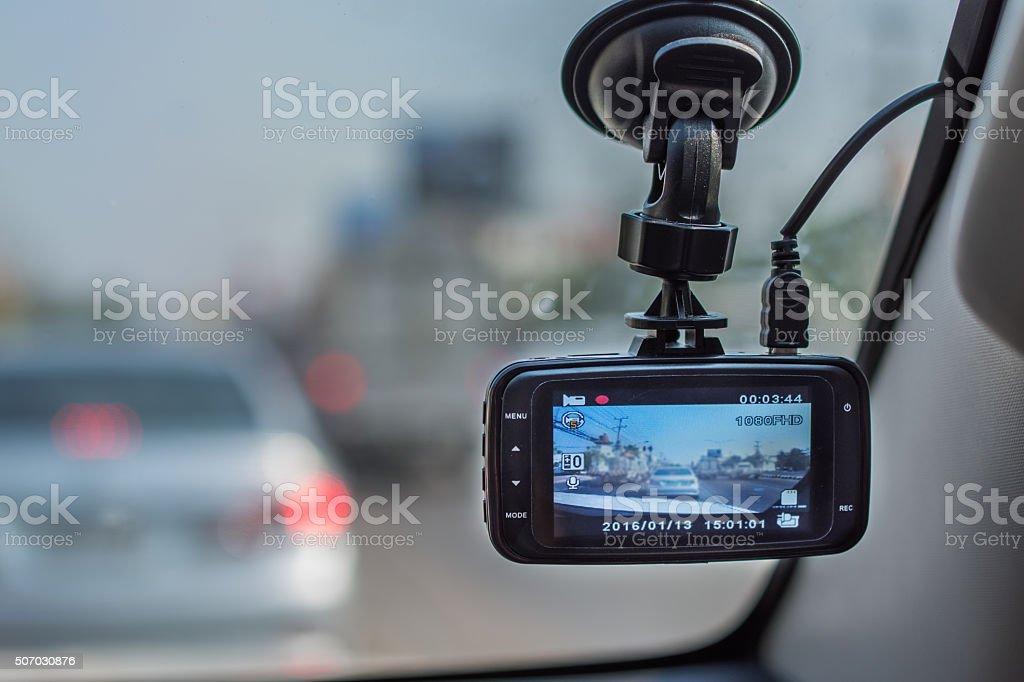 car video recorder stock photo