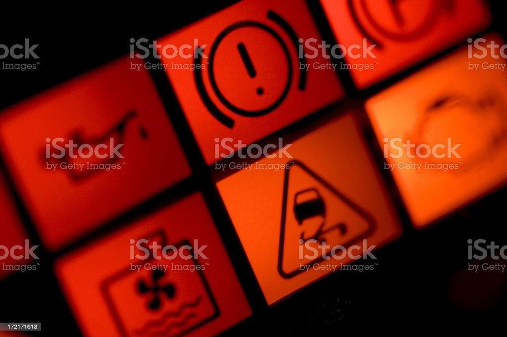 Car warning lights stock photo