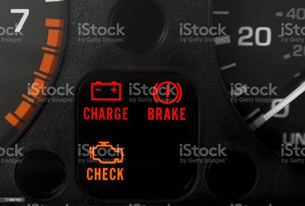 Car Warning Lights stock photo