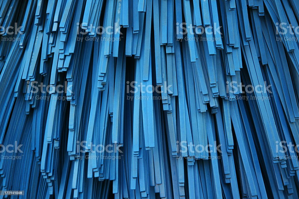 Car wash brushes in blue and closeup view before wash royalty-free stock photo