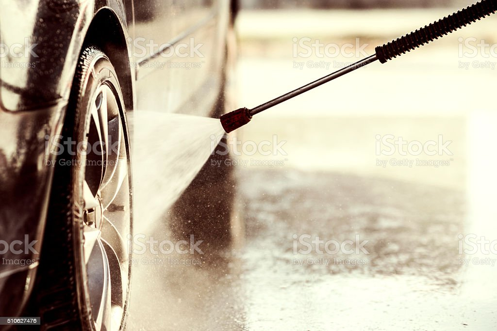 Car wash stock photo