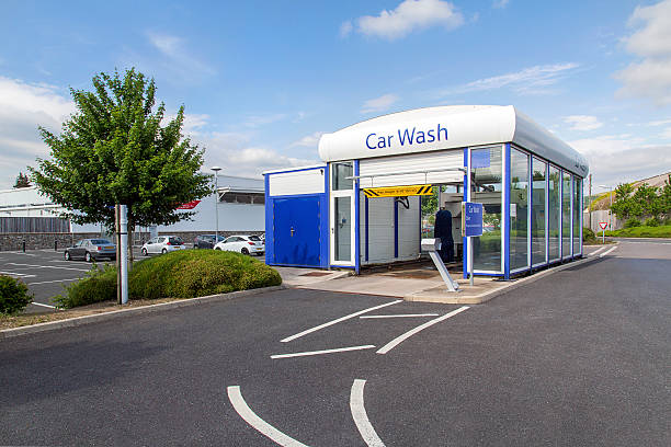 car wash tesco stock photo