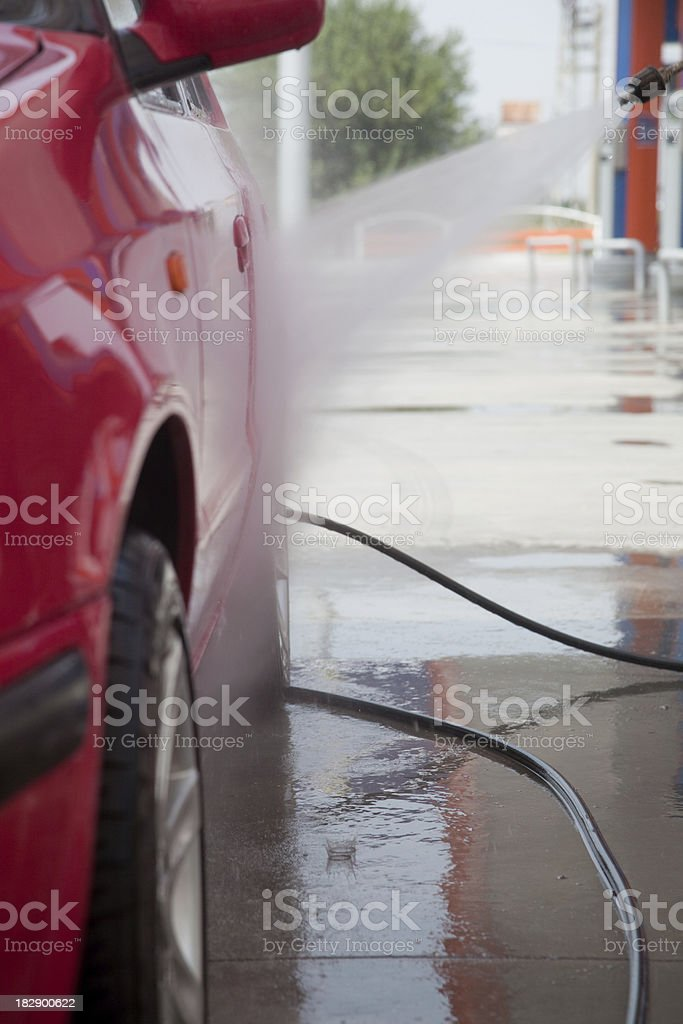 car wash with water pressure royalty-free stock photo