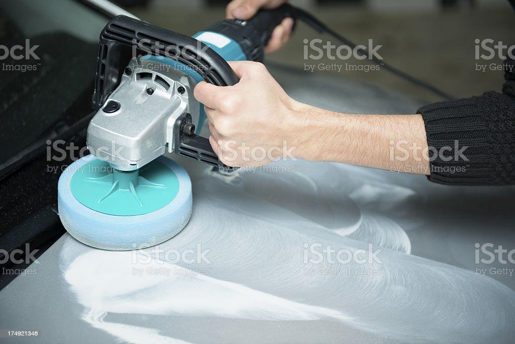 car washing and polishing (XXXL) stock photo