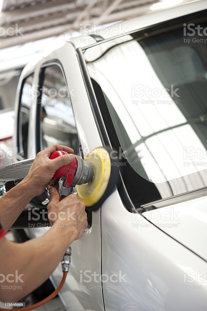 Car wax royalty-free stock photo
