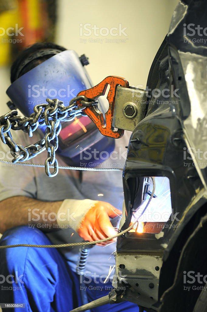 Car Welding stock photo