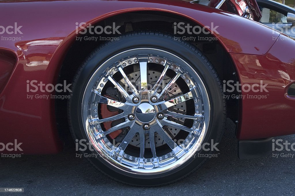 Car Wheel Close-up stock photo