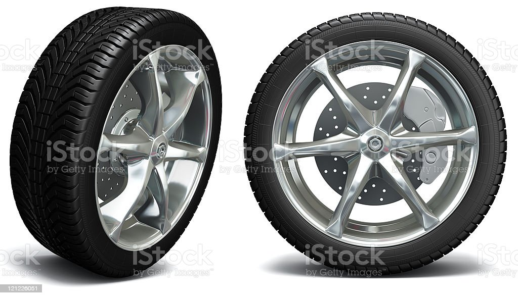 Car wheel. Exclusive design royalty-free stock photo