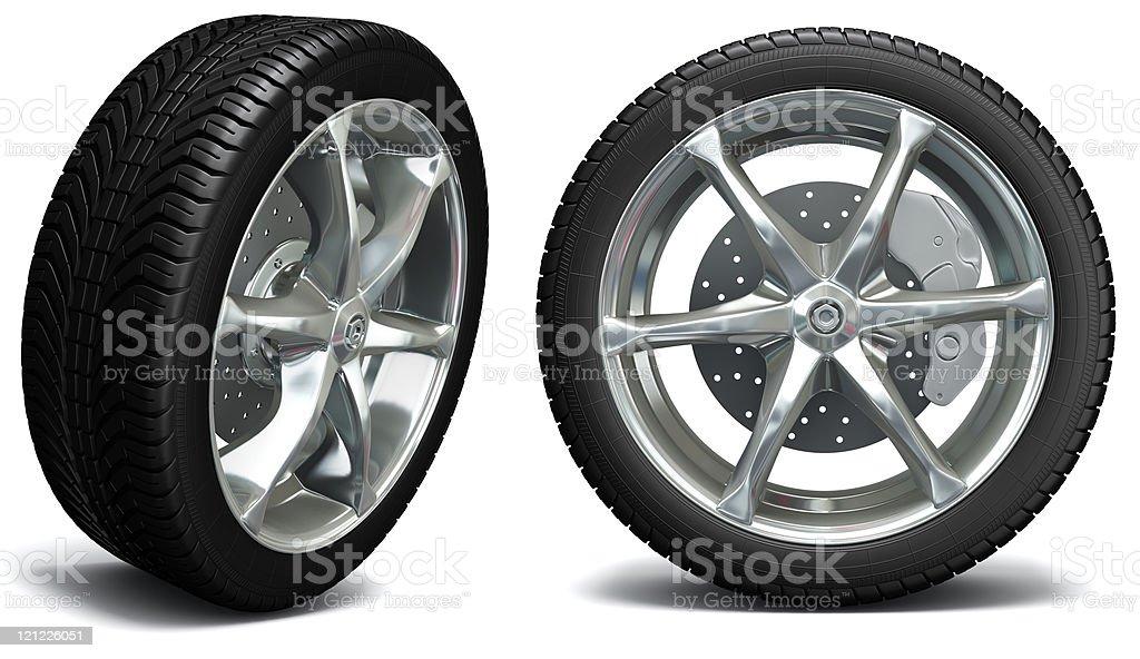 Car wheel. Exclusive design stock photo