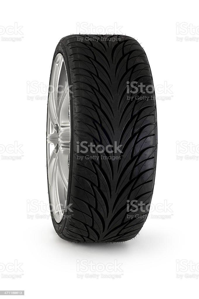 Car Wheel Isolated on white royalty-free stock photo