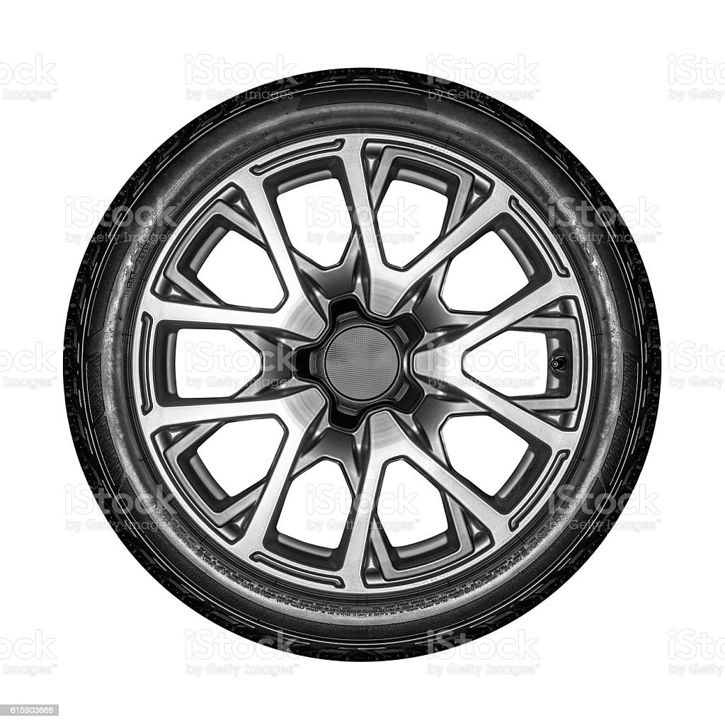 Car wheel isolated. stock photo