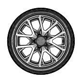 Car wheel isolated.