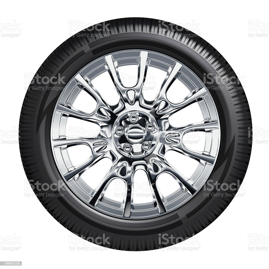Car Wheel vector art illustration