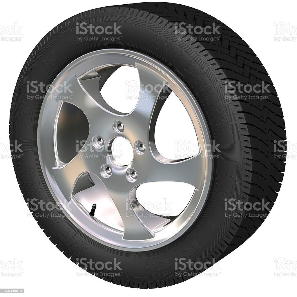 Car Wheel royalty-free stock vector art