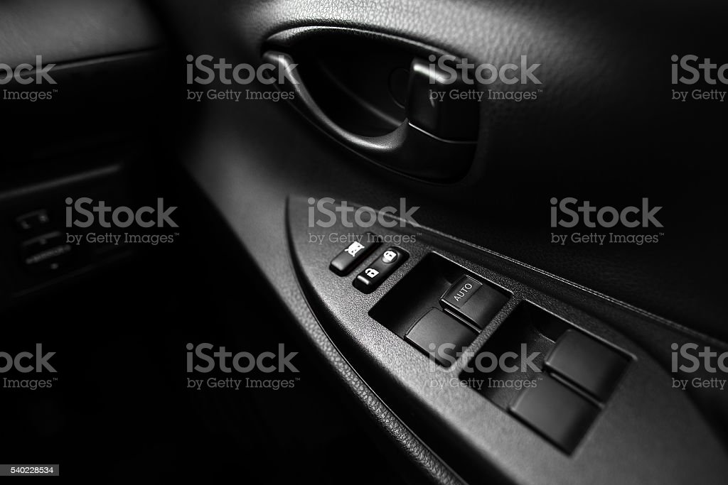 Car window controls buttons stock photo