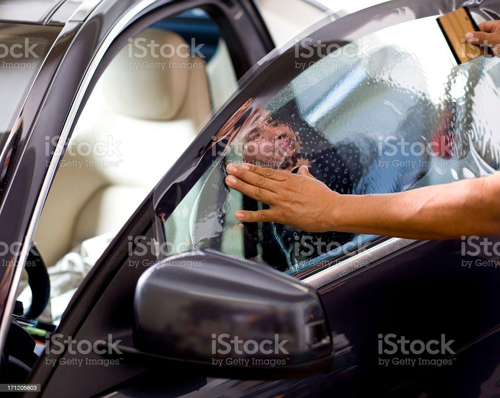 Car Window Tinting stock photo