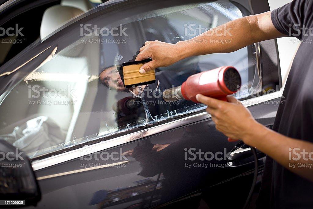 Car Window Tinting royalty-free stock photo