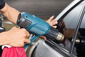 Car window tinting series : Heat shrinking window film